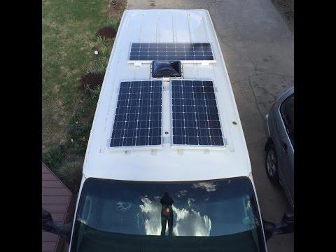 Living in a Van: How to Install Renogy Solar Panels - #VanLife