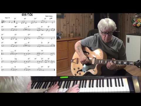 Ebb Tide - Jazz guitar & piano cover ( Robert Maxwell )