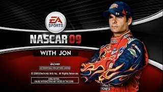 Jon Tries - NASCAR 09 : Flawed, But Nice Looking. (HD / Gameplay / Commentary)
