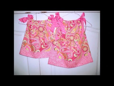 How To Make A SUPER EASY Pillowcase Dress! - YouTube