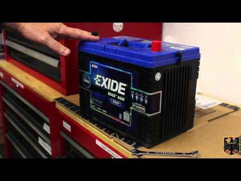 Exide Edge AGM Battery Install