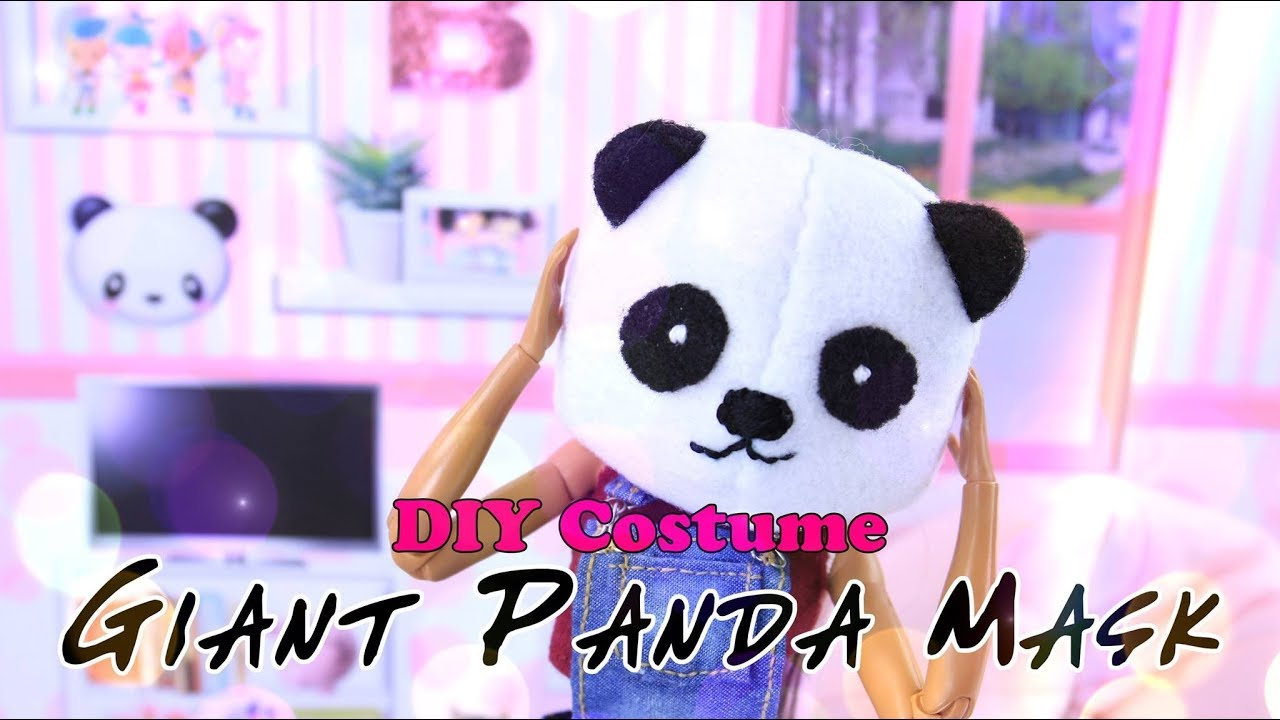 DIY - How to Make: GIANT Panda Head Mask PLUS More Masks