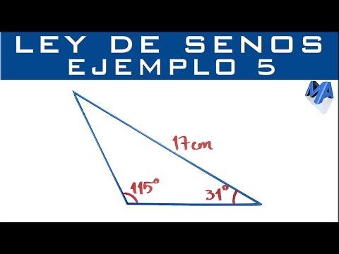 Ley De Senos | Ejemplo 5 | Solucionar El Triángulo