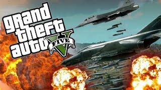 GTA 5 PC Mod Showcase - THE AIRSTRIKE MOD!!