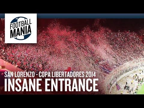 San Lorenzo Insane Entrance!!! Copa Libertadores 2014 Final