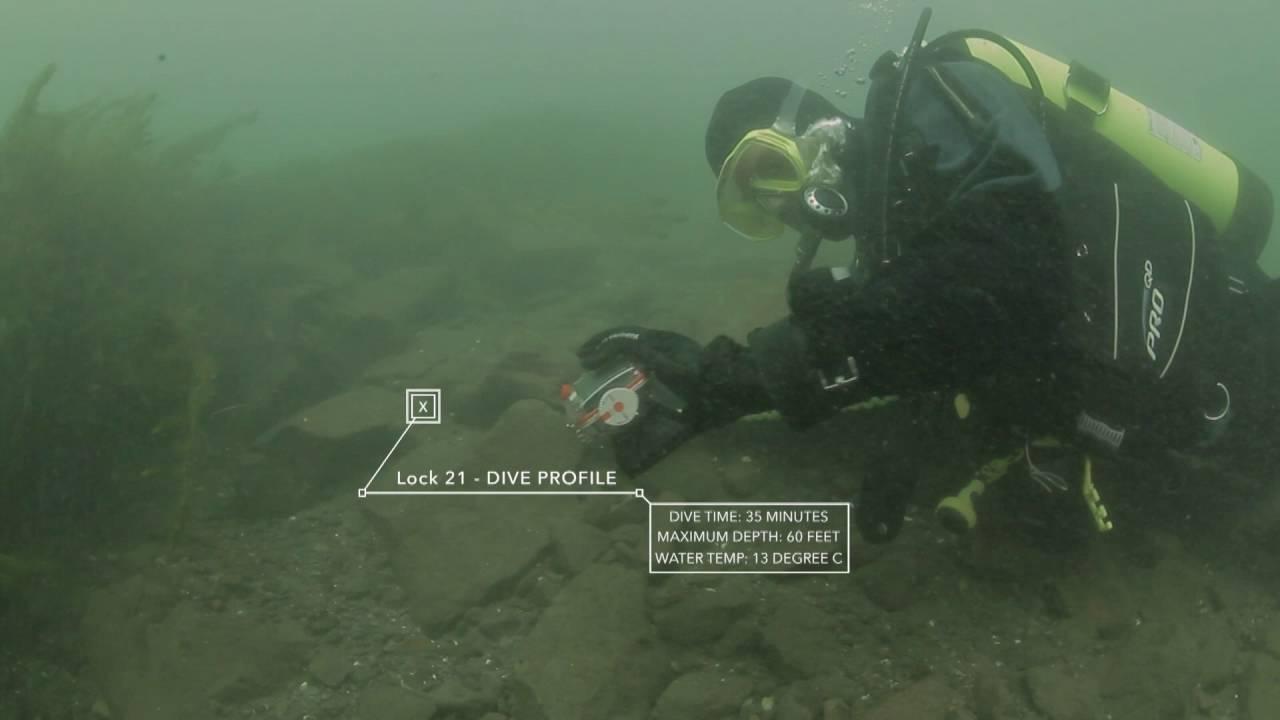 David and Alan Gibbins dive Lock 21