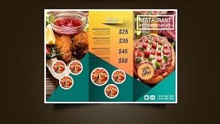 Cara membuat Brosur Lipat Tiga dengan Photoshop Trifold Brochure Design