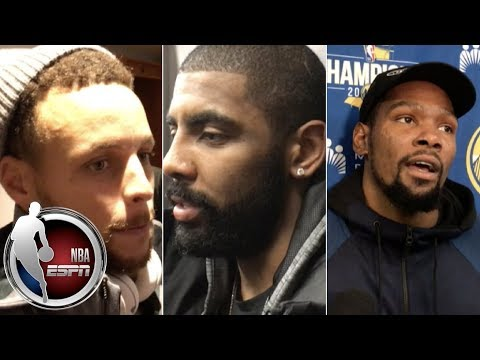 Best NBA Post-Game Interviews 12.4 : Steph Curry, Kevin Durant and Kyrie Irving | ESPN