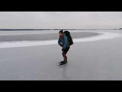 Nordic skating on the Gullkrona Bay