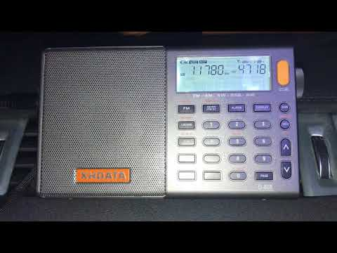 Testing the XHDATA D-808: Radio Nacional da Amazônia 11780 kHz, Brazil, copied in Oxford UK