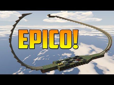 INCREÍBLE! ACROBACIA BUENISIMA!! - Gameplay GTA 5 Online Funny Moments (Carrera GTA ...