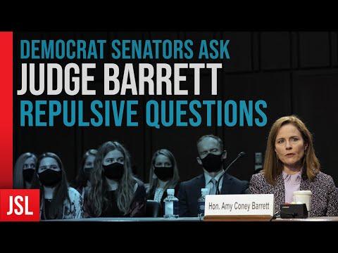 Democrat Senators Ask Judge Barrett Repulsive Questions