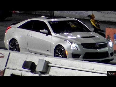 Twin Turbo 2016 Cadillac ATS-V Coupe - 3.6 DOHC  - Drag Race Video - Road Test TV ®