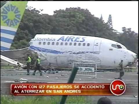 Avión con 121 pasajeros se estrelló en San Andrés