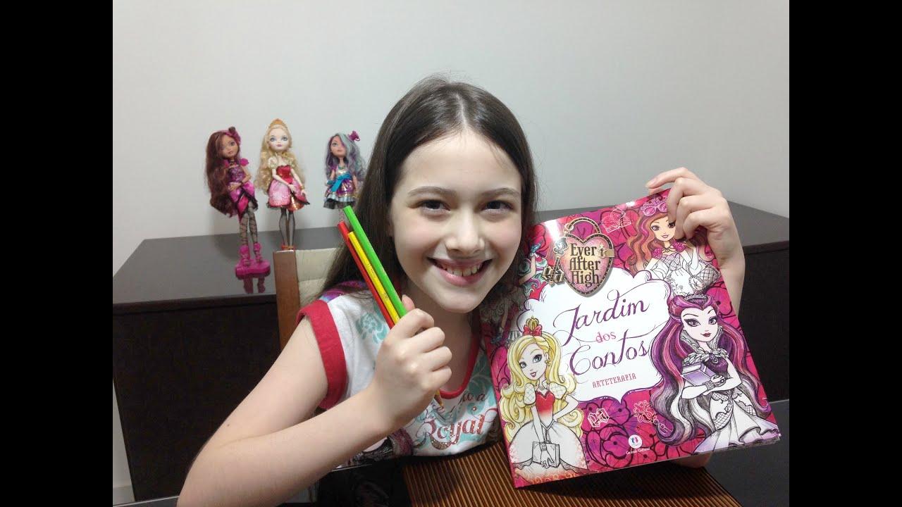 livro de colorir das ever after high julia silva youtube