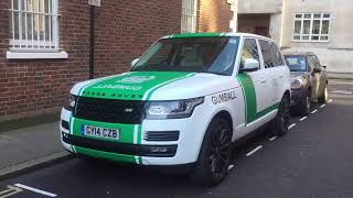 DUBAI POLICE CAR IN LONDON FOR GUMBALL3000