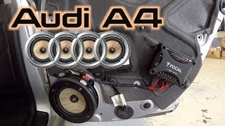 Audi A4 Rear Speaker Replacement OEM STYLE!