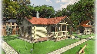 Проект бани - гостевого дома из сруба ручной рубки