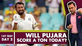 #WIvIND: Will PUJARA score a TON today?   #AakashVani