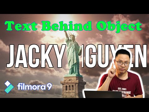 Text Behind Object Effect - Filmora 9 Tutorial