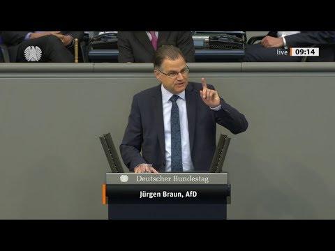 """Bundestag. Klartext: """"Die Bundesregierung hat Panik verbreitet."""" Jürgen Braun, AfD 15.05.2020"""