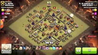 Clash of Clans CANISCIOLT1 Vs BVb4ever (TWC) Best TH10 Attacks