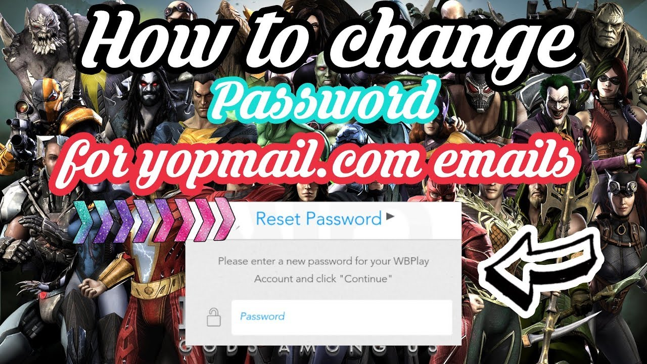 How to change password for WBID accounts