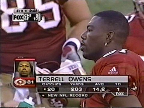 Terrell Owens 20 Receptions game vs the Bears ca. 2000
