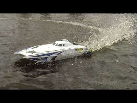 Aquacraft Wildcat EP Brushless RC Boat - Fast Run, Fountain Fun