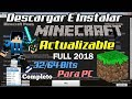 Como Descargar Minecraft 1.12.2 FULL Y Actualizable Para PC Fácil y Rapido GRATIS 2018
