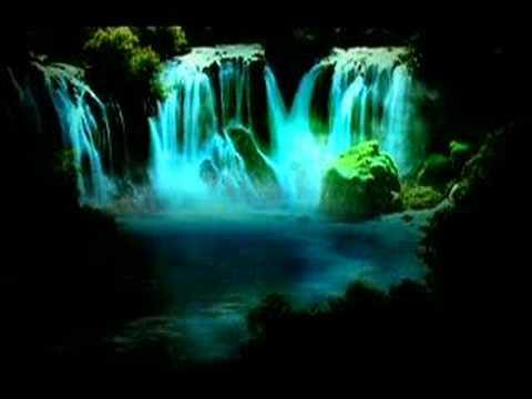 Tableau lumineux anime cascade - Cadre lumineux cascade ...