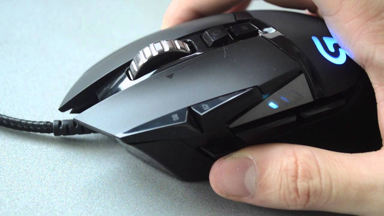 Logitech G502 Button / Scroll Test