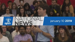 APTN National News January 10, 2019 – Voices against pipeline at town hall, Tentative deal struck