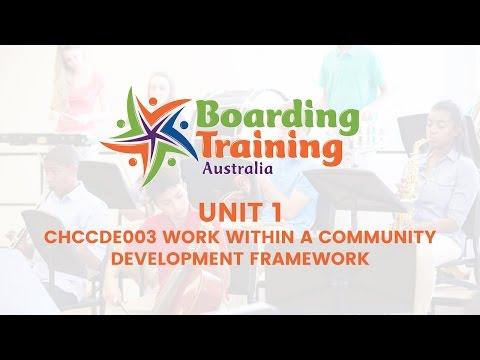 Unit 1 Work within a Community Development Framework International