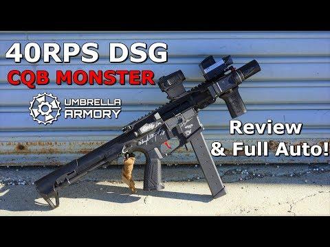 The Ultimate Airsoft Submachine gun Umbrella Armory DSG ARP-9 Review & Full Auto!