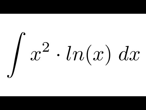 Integral of (x^2)*ln(x) (by parts)