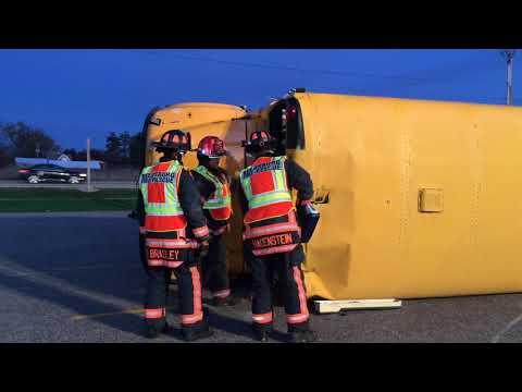 Bus crash drill at Reedsburg Area High School
