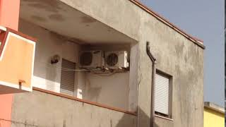 Air conditioning units in a terrace
