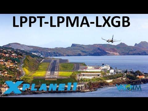 X-Plane 11 | Madeira & Gibraltar Approach!! | A320 B738 | VATSIM | Portugal & Spain!!