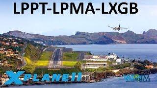 X-Plane 11 | Madeira & Gibraltar Approach!! | A320 B738 | VATSIM | Portugal & Spain!! thumbnail