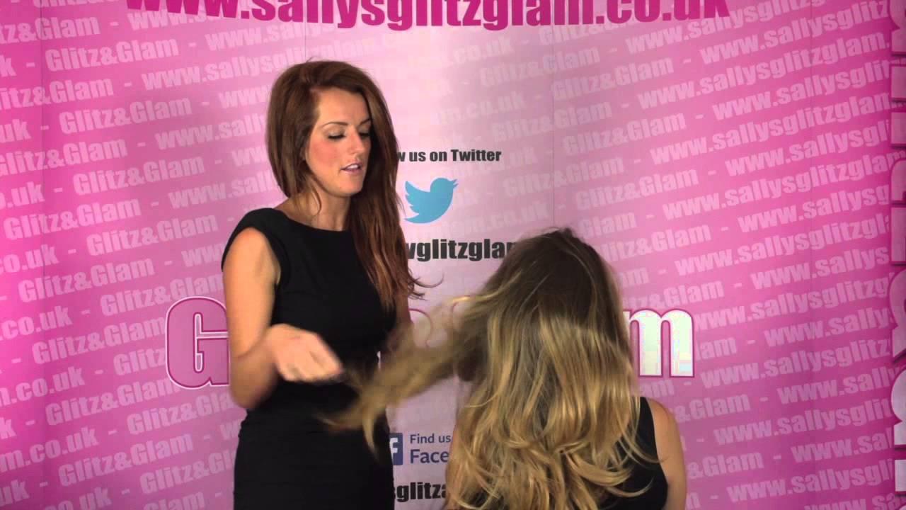 Sallys Glitz Glam Double Volume Straight Dip Dye 34 Hair Piece