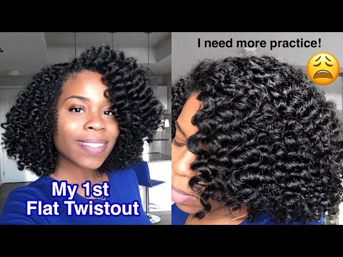 My 1st Twistout on Natural Hair | I NEED MORE PRACTICE!!!😩