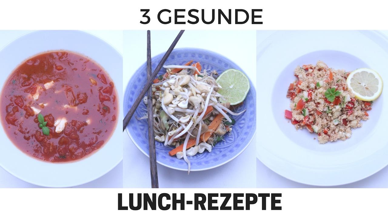 3 gesunde lunch rezepte in nur 15 minuten ideal zum abnehmen vegetarisch youtube. Black Bedroom Furniture Sets. Home Design Ideas