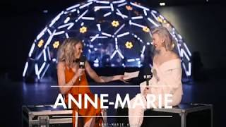 Anne-Marie behind the scenes of MTV Live Stage