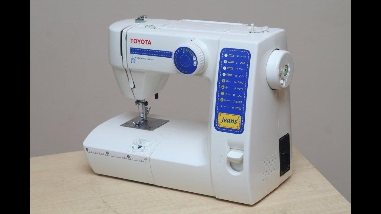 Download Toyota Jeans JFS 18 RS Nähmaschine Sewing machine Швейная машина test