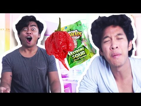 M Berry CHALLENGE SUPER SPICY & SUPER SOUR!! MUKBANG!