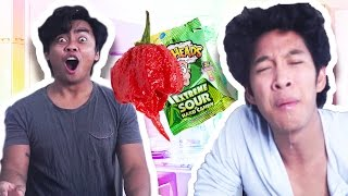 Video M Berry CHALLENGE SUPER SPICY & SUPER SOUR!! MUKBANG! download MP3, 3GP, MP4, WEBM, AVI, FLV Juli 2018