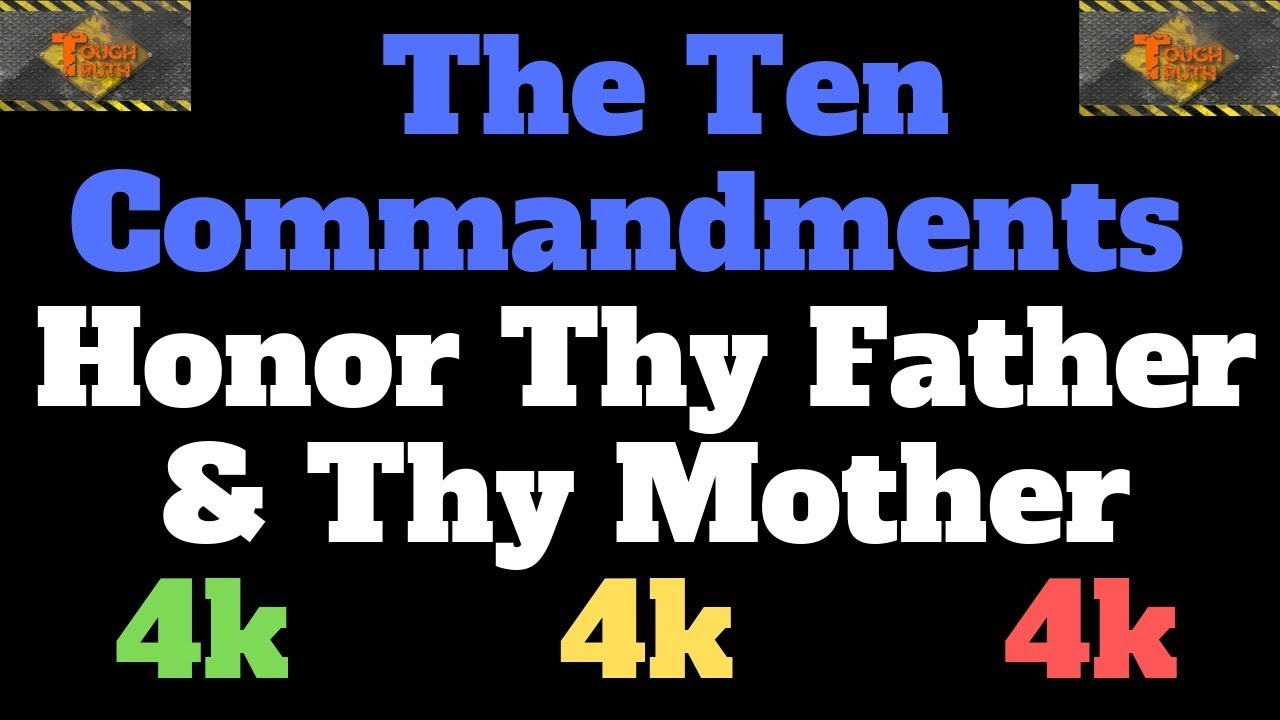 TEN COMMANDMENTS: HONOUR THY FATHER AND THY MOTHER PT. 1 {4K}