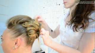 Свадебная прическа с накладными волосами #1