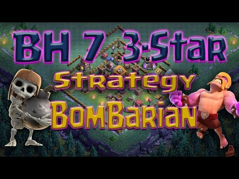 Clash of Clans - BH7 3-star attack strategy BomBarian (Bombers & Barbarians)